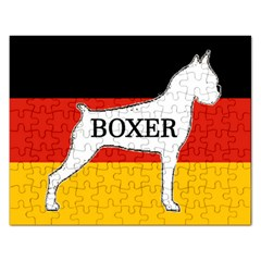 Boxer Name Silo On Flag White Rectangular Jigsaw Puzzl
