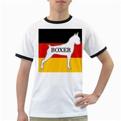 Boxer Name Silo On Flag White Ringer T-Shirts