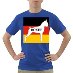 Boxer Name Silo On Flag White Dark T-Shirt