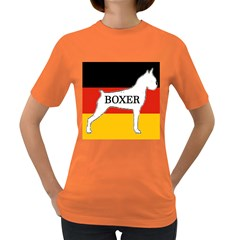 Boxer Name Silo On Flag White Women s Dark T-Shirt