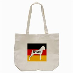Boxer Name Silo On Flag White Tote Bag (Cream)