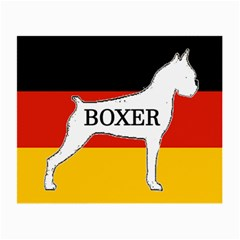 Boxer Name Silo On Flag White Small Glasses Cloth
