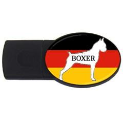 Boxer Name Silo On Flag White USB Flash Drive Oval (4 GB)