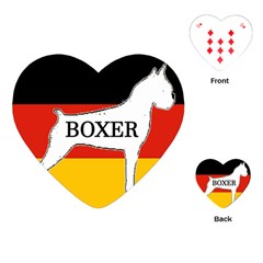 Boxer Name Silo On Flag White Playing Cards (Heart)