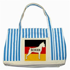 Boxer Name Silo On Flag White Striped Blue Tote Bag