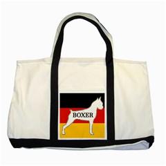 Boxer Name Silo On Flag White Two Tone Tote Bag