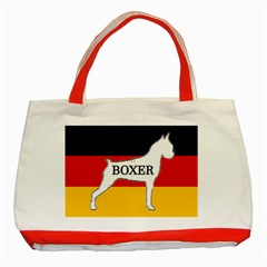 Boxer Name Silo On Flag White Classic Tote Bag (Red)