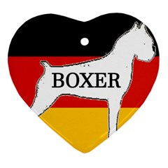 Boxer Name Silo On Flag White Heart Ornament (Two Sides)