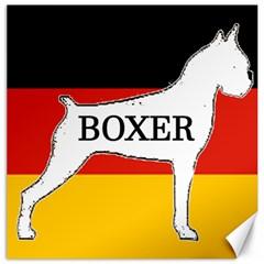 Boxer Name Silo On Flag White Canvas 16  x 16