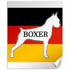 Boxer Name Silo On Flag White Canvas 16  x 20