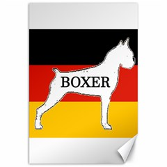 Boxer Name Silo On Flag White Canvas 20  x 30