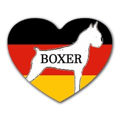 Boxer Name Silo On Flag White Heart Mousepads