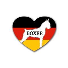 Boxer Name Silo On Flag White Rubber Coaster (Heart)