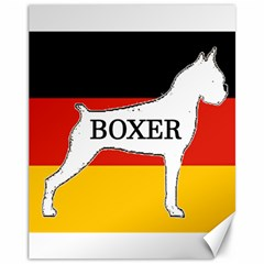 Boxer Name Silo On Flag White Canvas 11  x 14