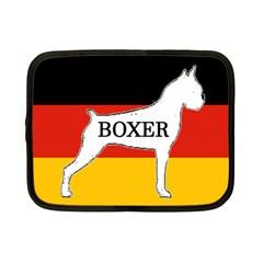 Boxer Name Silo On Flag White Netbook Case (Small)