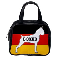 Boxer Name Silo On Flag White Classic Handbags (One Side)