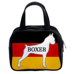 Boxer Name Silo On Flag White Classic Handbags (2 Sides)