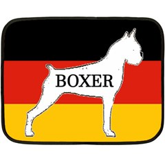 Boxer Name Silo On Flag White Fleece Blanket (Mini)