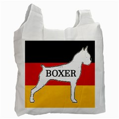 Boxer Name Silo On Flag White Recycle Bag (One Side)