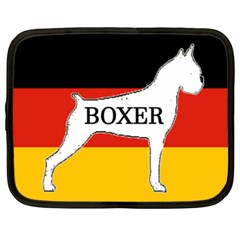 Boxer Name Silo On Flag White Netbook Case (XXL)