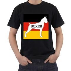 Boxer Name Silo On Flag White Men s T-Shirt (Black)