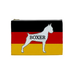 Boxer Name Silo On Flag White Cosmetic Bag (Medium)