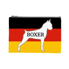 Boxer Name Silo On Flag White Cosmetic Bag (Large)