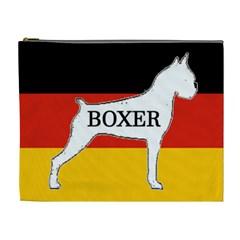 Boxer Name Silo On Flag White Cosmetic Bag (XL)