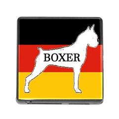 Boxer Name Silo On Flag White Memory Card Reader (Square)