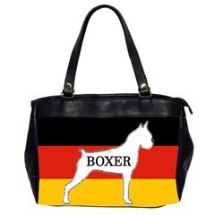 Boxer Name Silo On Flag White Office Handbags (2 Sides)