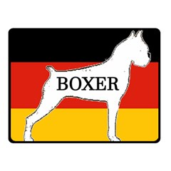 Boxer Name Silo On Flag White Fleece Blanket (Small)