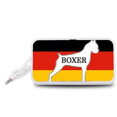 Boxer Name Silo On Flag White Portable Speaker (White)