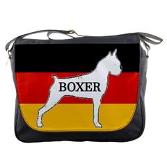 Boxer Name Silo On Flag White Messenger Bags