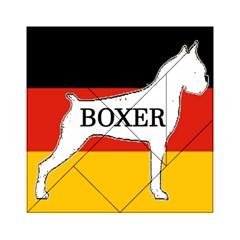 Boxer Name Silo On Flag White Acrylic Tangram Puzzle (6  x 6 )