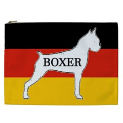 Boxer Name Silo On Flag White Cosmetic Bag (XXL)