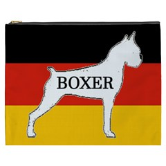 Boxer Name Silo On Flag White Cosmetic Bag (XXXL)