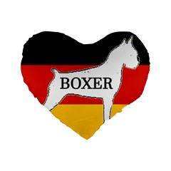 Boxer Name Silo On Flag White Standard 16  Premium Heart Shape Cushions