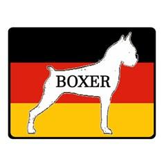 Boxer Name Silo On Flag White Double Sided Fleece Blanket (Small)