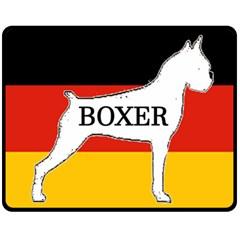 Boxer Name Silo On Flag White Double Sided Fleece Blanket (Medium)