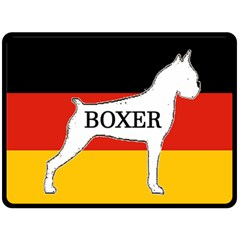 Boxer Name Silo On Flag White Double Sided Fleece Blanket (Large)