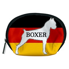 Boxer Name Silo On Flag White Accessory Pouches (Medium)