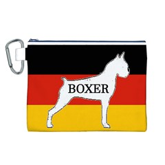 Boxer Name Silo On Flag White Canvas Cosmetic Bag (L)