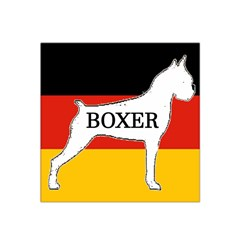 Boxer Name Silo On Flag White Satin Bandana Scarf