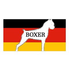 Boxer Name Silo On Flag White Satin Shawl