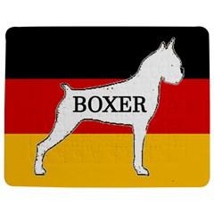 Boxer Name Silo On Flag White Jigsaw Puzzle Photo Stand (Rectangular)