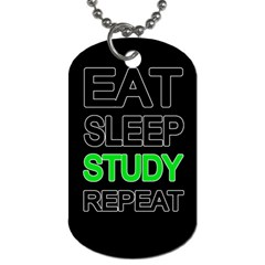 Eat sleep study repeat Dog Tag (Two Sides)