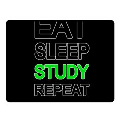 Eat sleep study repeat Fleece Blanket (Small)