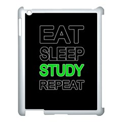 Eat sleep study repeat Apple iPad 3/4 Case (White)