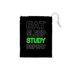 Eat sleep study repeat Drawstring Pouches (Small)
