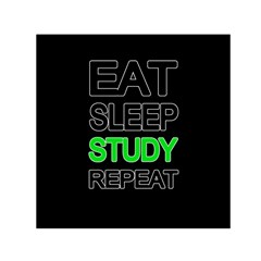 Eat sleep study repeat Small Satin Scarf (Square)